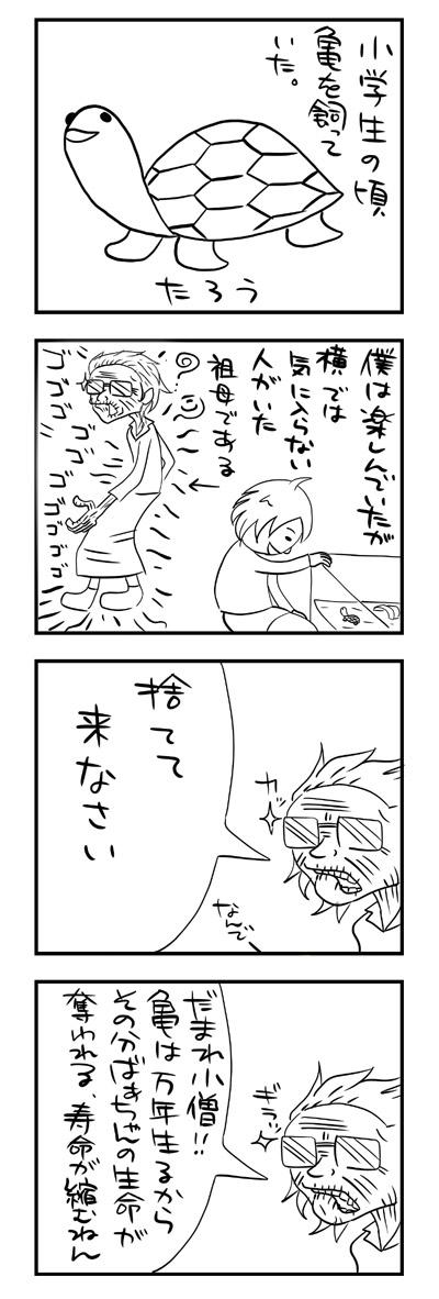 祖母と亀1